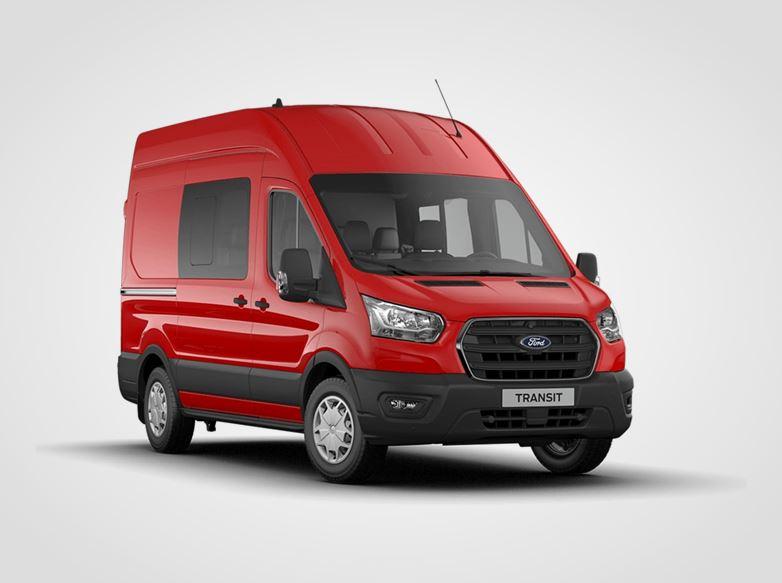 Nový Ford Transit Kombi Van Trend 350 L2,  2,0přední pohon (mHEV) 96kW/130k, 6st.manuální