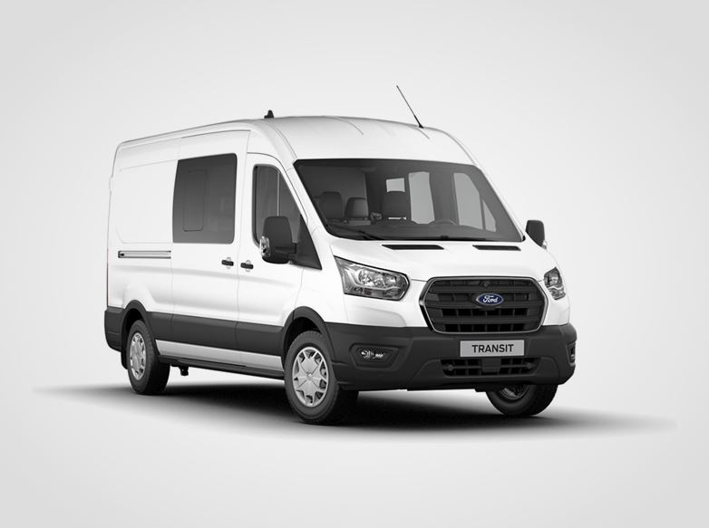 Nový Ford Transit Kombi Van Trend 350 L3,  2.0přední pohon 96kW/130k, 6st.manuální