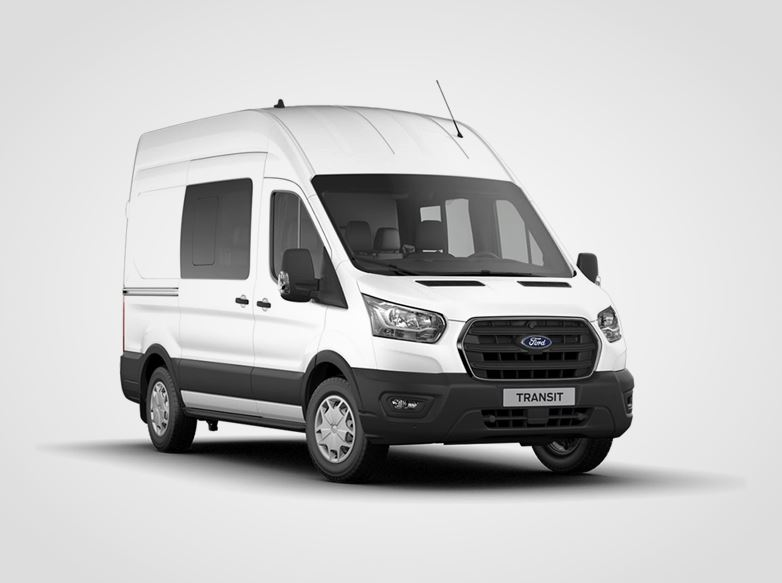 Nový Ford Transit Kombi Van Trend 310 L2,  2,0přední pohon (mHEV) 96kW/130k, 6st.manuální