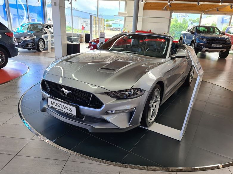 Ford Mustang  V8 GT,  Convertible, 5.0GT 330kW/449k, 10st.automatická